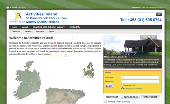 Activities Ireland Free Re-Design 2