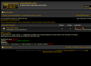 proBlack Screenshot for phpBB